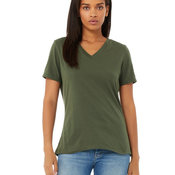 Ladies' Relaxed Jersey V-Neck T-Shirt